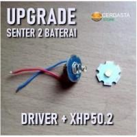 SENTER 2 BATERAI UPGRADE DRIVER CHIP LED XHP50.2