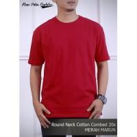 Kaos Polos Cotton Combed 20s Merah Marun