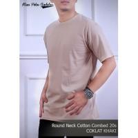 Kaos Polos Cotton Combed 20s Coklat Khaki