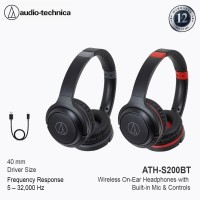 Audio-Technica ATH-S200BT Wireless Bluetooth Headphone