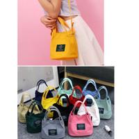 Tas Kanvas Slempang Selempang Model Korea Traveling Living Bag Tote - Merah