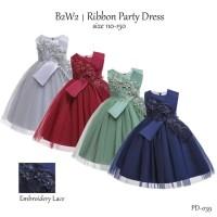 Gaun Pesta Anak Perempuan/ Dress Flower Tulle/ Baju Ultah Party Import