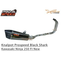 Knalpot Prospeed Shark Black Kawasaki New Ninja 250 FI 2018 Fullsystem