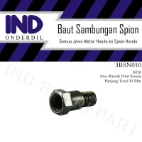 Baut Sambungan-Peninggi Spion M10 Panjang Ulir 14 All Honda Supra/Beat