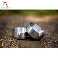 Asbak stainless steel diameter 8cm / Asbak rokok
