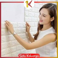 SK-C55-58 Wallpaper Dinding 3D Wall Sticker Foam Batu Bata