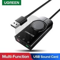 UGREEN 50599 USB External Soundcard Stereo Sound Audio Adapter 3.5mm