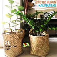 Grosir Bakul Cover Pot Purun - size XL