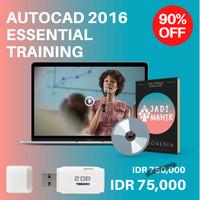 [Flashdisk] Pelatihan Online AutoCAD 2016 Essential Training
