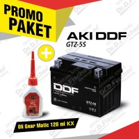 Paket Aki DDF MOTOR Yamaha New Vixion + Oli Gear Matic KX 120ml