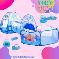 mainan anak tenda terowongan kolam bola 3 in 1
