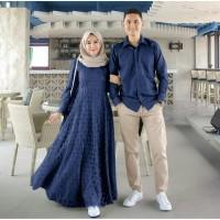 Baju Wanita TERBARU Muslim Couple Pesta Maxi Dres Gamis Syari Amelia