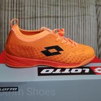 Sepatu Futsal Lotto Spark IN beat orange original