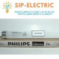 PHILIPS LAMPU TL-D 36W / 54-76 1SL/25 / PHILIPS LAMPU NEON TL-D 36WATT