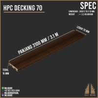 WPC Decking 70 (HPC) Baliwood not papan kayu vinyl decking kayu