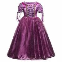 Ready Stock Baju Pesta/Baju Princess Disney Kostum Rapunzel Anak
