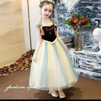 Ready Stock Baju Anak Perempuan/Dress Princess Ana Frozen - 3-4 Tahun