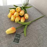 Bunga Tulip Artificial PREMIUM Latex ORANGE Seperti Asli