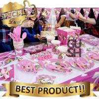 Set Perlengkapan & Dekorasi Pesta Ulang Tahun Anak Motif Unicorn