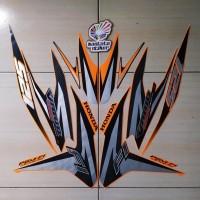 Striping Motor Honda Vario Techno 125 FI 2012 orange
