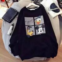 Sweater Oblong Wanita Square Disney Donald Duck Mickey Mouse Guffy
