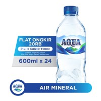 AQUA Air Mineral 600ml x 24 botol (1 box)