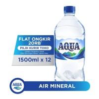 AQUA Air Mineral 1500ml x 12 botol (1 box)