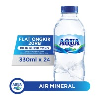 AQUA Air Mineral 330ml x 24 botol (1 box)