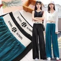 Celana Kulot Plisket Korea 100cm S-XXL High Waist Import Rip Butr Silk