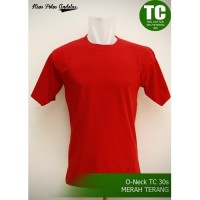 Kaos Polos Teteron Cotton 30s Merah