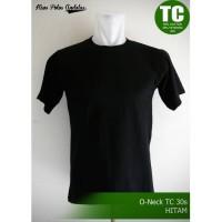 Kaos Polos Teteron Cotton 30s Hitam - Hitam, M