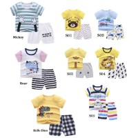 Bekasi ! 6bln-5thn Setelan Lengan Pendek Anak laki-laki / Baju Casual