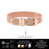 SORCERY Bracelet 18K REAL GOLD Gelang Anti Karat Pria Wanita VBR1