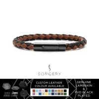 SORCERY Bracelet 18K REAL GOLD Gelang Kulit Asli Pria Wanita RPR1L-LB3