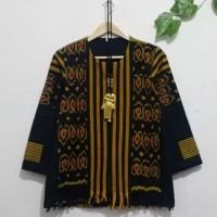 blouse wanita blazer atasan batik ethnic tenun lurik jepara AT002