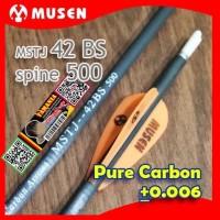 MUSEN 42BS 6mm Spine 500 - Arrow Pure Carbon - Anak Panah Karbon