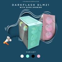 CASING DARKFLASH DLM21 M-ATX Gaming Case- Black White