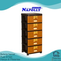 LEMARI PLASTIK NAPOLLY STB 500 LACI PLASTIK 5 SUSUN