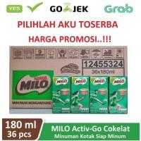 Susu Milo Kotak Coklat ACTIVE GO UHT - 180 ml (1 dus isi 36 kotak)