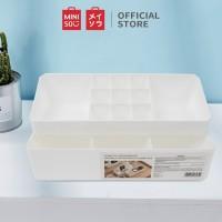 MINISO Rak Make Up Kotak Organizer 2 Laci Rak Serbaguna Kotak Penyimpa