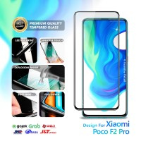 Tempered Glass Xiaomi Poco F2 Pro Full Cover Full Layar Black Premium