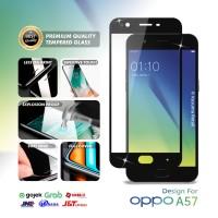 Tempered Glass Oppo A57 Full Cover Full Layar Black Premium