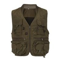 Hamlin Jems Rompi Pancing Fishing Vest XL Pria Wanita - Army Green