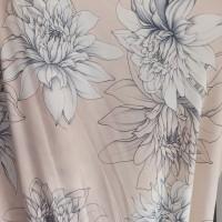 kain bahan baju meteran katun rayon motif bunga leaf