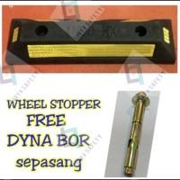 Wheel Stopper - Pembatas Parkir Mobil Besar - Termasuk 2 Buah Dynabor