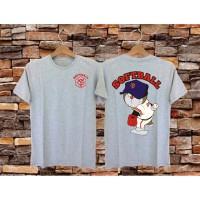 Kaos Distro Pria Lengan Pendek /T-Shirt Pria/Kaos Oblong - SoftBall