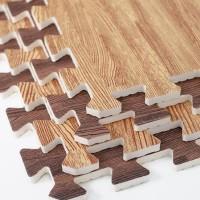 Matras Karpet Puzzle Alas Lantai Evamats Evamat Motif Wooden