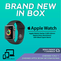 Apple Watch Series 3 GPS 42mm Space Grey Alum with Black Sport Band