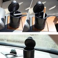 Asbak Mobil LED Portable Car Ashtray Cup Mini Trash Bin Tong Sampah