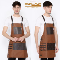 apron high quality synthetic leather Y strep for barberman,barista